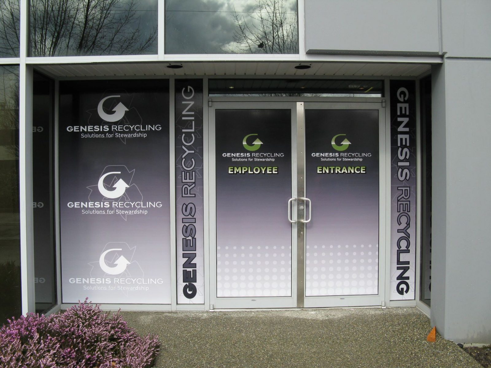 Genesis-Recycling-Storefront-Sign