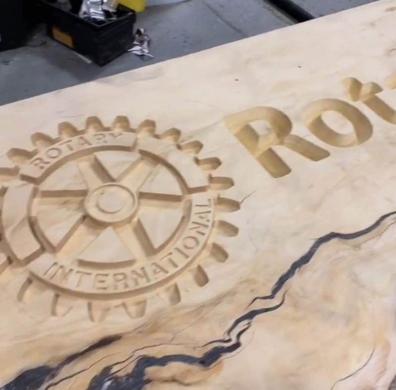 Rotary-Wood-Carved-Sign