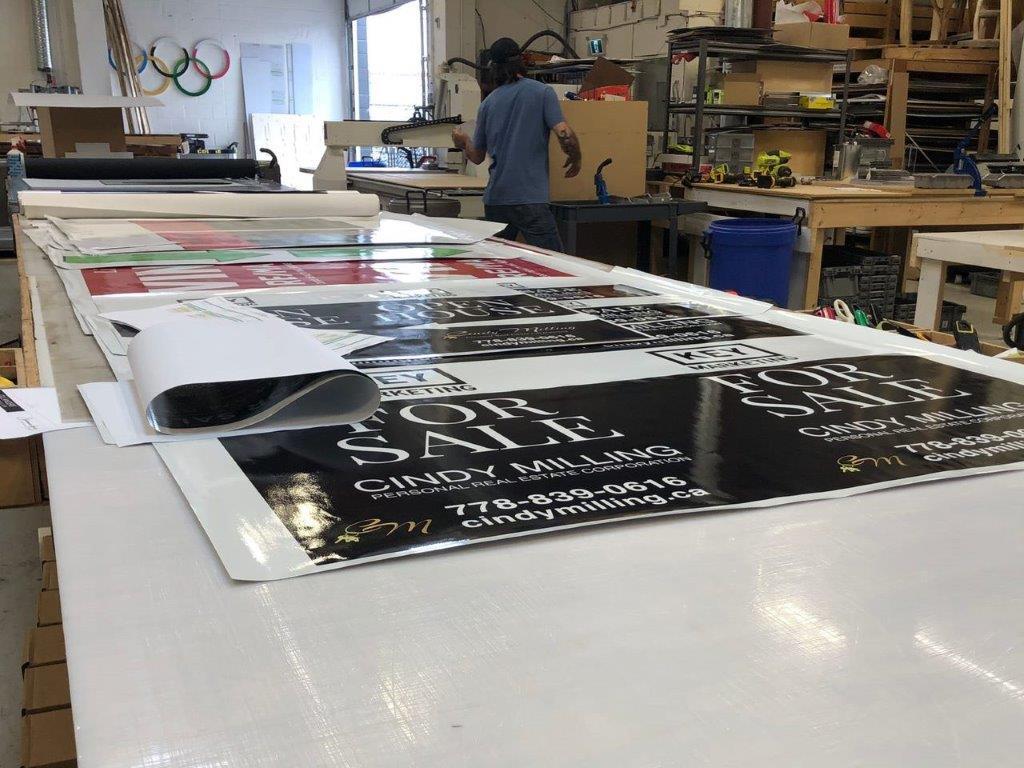 printing and signage at work